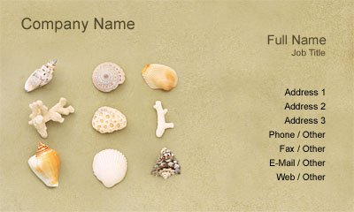 Sand and Shells Business Card Template